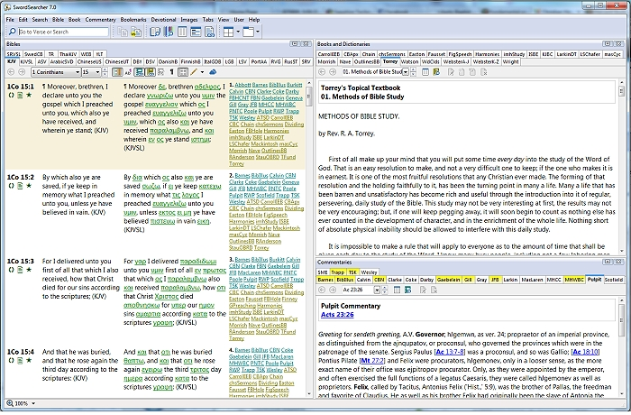 SwordSearcher Bible study software